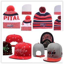 $enCountryForm.capitalKeyWord Australia - Washington Capitals Snapback Caps Adjustable Hat Black white red grey Washington Capitals Knit Hat beanies Caps