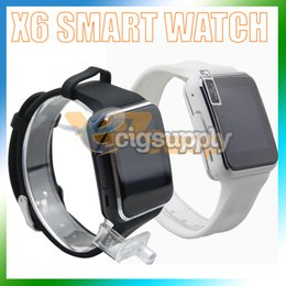$enCountryForm.capitalKeyWord Australia - X6 Smart Watches With Camera Touch Screen Support SIM TF Card Bluetooth Smartwatch For Iphone Samsung Phone Wristwatches with Retail Box