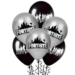 Discount party supplies Free Shipping Black and silver Fortnite balloon Poppy latex Balloons Globos Birthday Party Supplies Kids Toys Gifts Marriage Decorations