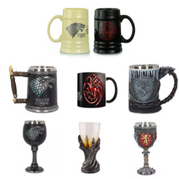 game cups Australia - Game of Thrones Coffee Mugs Tea Cups and Mugs Creative Mark Fire and Blood