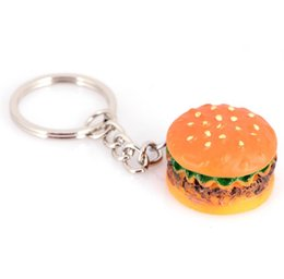 $enCountryForm.capitalKeyWord Australia - Promotion Cute Hamburger Keychain Simulation Food Hamburger Pendant Key Ring Novelty Key Chain Christmas Birthday Gift Free Shipping