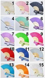 $enCountryForm.capitalKeyWord NZ - 30pcs Personalized Luxurious Silk Fold hand Fan in Elegant Laser-Cut Gift Box +Party Favors Wedding Gifts