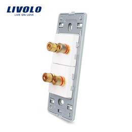 Function Connectors Australia - Livolo US Standard DIY Parts Plastic Materials Function Key, 2 Gang Audio Socket Base,Long Lasting