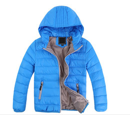 Chinese  Free shipping Children's Outerwear Boy and Girl Winter Warm Hooded Coat Children Clothes boy Down Jacket kid jackets 3-12 years manufacturers