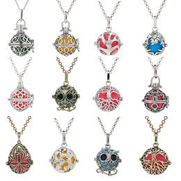 $enCountryForm.capitalKeyWord Australia - MIx Designs Love Heart Owl Clover Wing Pregnant Necklace Mexico Chime Ball Pendant Lava Bead Essential Oil Diffuser Locket Charms Making
