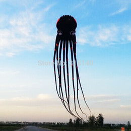 Kite lines online shopping - 2018 D eyes m Black Line Stunt Parafoil Octopus POWER Sport Kite outdoor toy