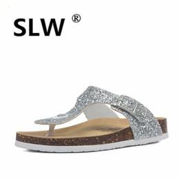 Low Wedge Heel Grey Shoes Australia - Shoes Without Heel On A Wedge Big Size Low Ladies Flip Flops Beach Slippers For Women Slides Flat Flip-flops Sliders Wedges