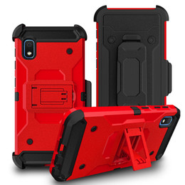 $enCountryForm.capitalKeyWord Australia - For LG Stylo 5 k40 Aristo 3 Samsung Galaxy A10E A20 Rugged Kickstand Mobile Phone Robot Defender Case with Holster Clip