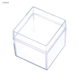 $enCountryForm.capitalKeyWord Australia - Crystal Clear Acrylic 5 Sided Jewelry Display Storage Box Case Square Cube Props Box For Ring Holder