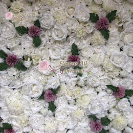 White Rose Arrangements Australia - High Quality 3D Flower Wall Wedding Backdrop Artificial Rose Peony flower arrangements DIY