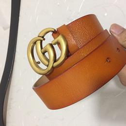 Letter m beLt buckLes online shopping - Classic men s belt design double letter copper buckle fashion belt men and women high quality brand cattle skin belt