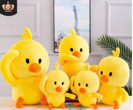 Venta al por mayor de Nueva red red tiemble baby yellow duck duck pillow plush toy chicken doll doll
