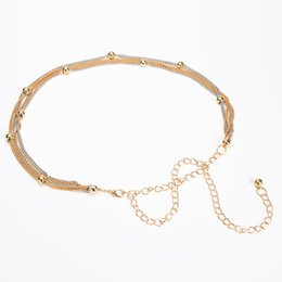 chains for mirrors NZ - New female Full Metal Mirror thin Waist Belt Women Metallic Gold Plate With Chains Lady Punk Rocky waistband for women BL645