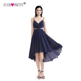 c5b8b6dd7ec Elegant A-Line V Neck Lace Cocktail Dresses Women Ever Pretty EZ03040 Cheap Sexy  Navy Blue Vestidos De Fiesta Por La Rodilla