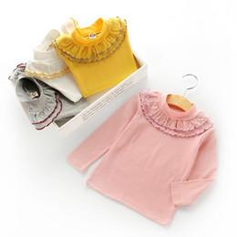 $enCountryForm.capitalKeyWord Australia - Spring Girls Pullover Flower Collar Kids Clothes Print Outfits T-shirt Beautiful Long Sleeve Children Clothing Fashion