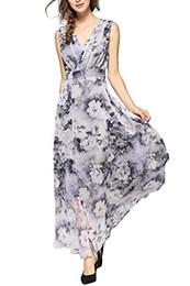 $enCountryForm.capitalKeyWord Australia - EvelynNY Womens Floral Peacock Evening Casual Split Loose Prom Party Maxi Dress