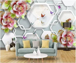 $enCountryForm.capitalKeyWord Australia - Papel de parede Custom 3d photo murals wall paper Simple embossed flowers butterfly art living room TV sofa background wall stickers