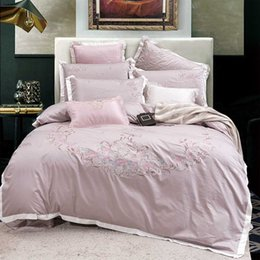 queen good duvet cover Australia - Good Quality Satin Silk Bedding Sets Flat Solid Color Queen King Size 4pcs Duvet Cover+Flat Sheet+Pillowcase Twin Si 5555555
