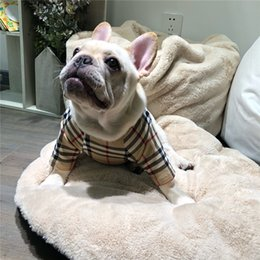 $enCountryForm.capitalKeyWord UK - Pet Popular Logo Thicken Hoodies Plus Size Fleece Grid Design Pet Clothes This Size Run Small Recommended Buy One Size Larger Than Normal