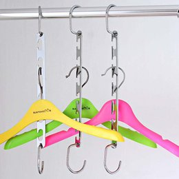 Multi Hangers Clothes Australia - 2pcs set Space Saver Metal Wonder Magic Hanger Clothes Closet Organizer Hook Drying Rack Multi-Function Clothing Storage Racks