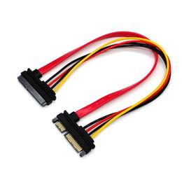 $enCountryForm.capitalKeyWord Australia - 22Pin SATA Cable Male to Female 7+15 Pin Serial ATA SATA Data Power Combo Extension Cable Connector Conterver