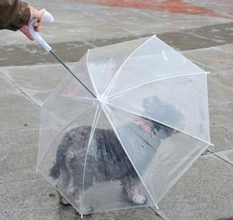 Dogs Gear Australia - Transparent PE Pet Umbrella Small Dog Puppy Umbrella Rain Gear with Dog Leads Keeps Pet Travel Outdoors Supplies DHL