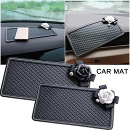 rhinestone phone stickers Australia - Rhinestone Car Anti-skid Pad Soft Mobile Phone Anti-skid Stickers Car Interior Instrument Panel Decoration Perfume Storage Mat