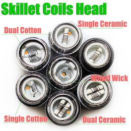 Ceramic Core Coil Australia - Skillet Atomizer 7 types rebuildable coils head for skillet Ego D Dual Ceramic Coil Herbal vapor wax Dry Herb vaporizer pen e cigatette core
