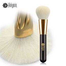 $enCountryForm.capitalKeyWord NZ - FEIYAN Makeup Powder Brush Large Soft Natural Goat Hair Professional Foundation Blush Blend Contour Bronzer Make Up Brushes 1pcs