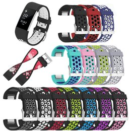 $enCountryForm.capitalKeyWord Australia - Wristband Watch Straps For Fitbit Charge 2 Smart Watch Band Silicone Soft Replacement Watchband for Fitbit Apple Large Small Sizes