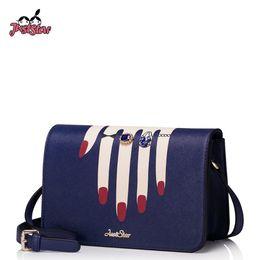 $enCountryForm.capitalKeyWord Australia - Just Star Womens Leather Messenger Bags Ladies Fashion Finger Printing Shoulder Purse Female Flap Diamond Ring Crossbody Bags