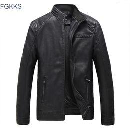 $enCountryForm.capitalKeyWord Australia - FGKKS Brand Men Leather Jacket Coat 2019 Winter Male Stand Collar PU Jacket Men's Faux Leather Jackets Coat