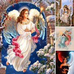 $enCountryForm.capitalKeyWord Australia - Flower Diamond Painting Religion Full Square 5d Diy Diamant Paint Girl Diamond Embroidery Angel Devil Home Decor Kids Gift Y62