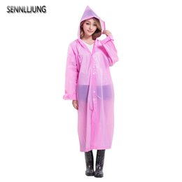 $enCountryForm.capitalKeyWord Australia - SENNLLJUNG Colorful Women Portable EVA Transparent Raincoat Poncho Portable Environmental Light Raincoat Long Use Rain Coat