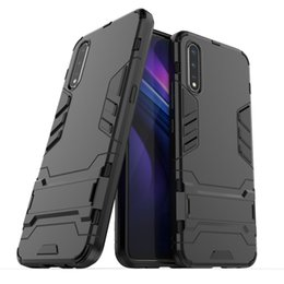 $enCountryForm.capitalKeyWord Australia - Kick Stand Case For Vivo S1 Cover Hard Armor Silicon Soft Edge Matte Finish Hybrid with Kickstand Foldable
