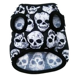 Devil clothing online shopping - Spring Summer Dog Vest Black Bones White Bones Devil Head Dog Cool Costume Skulls Patterns Costume Clothing Spring Vest Thin M