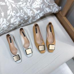 $enCountryForm.capitalKeyWord Australia - Pretty2019 Buckle Rough Metal With Grandma Soft Sole Of Square One Pedal Single Shoe Women's Shoes