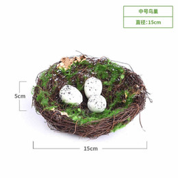 $enCountryForm.capitalKeyWord Australia - Simulation Straw Bird Nest Hanging Grass Garden Plant Micro Landscape Birds Decoration Creative Ornaments Plastic Teaching Toy