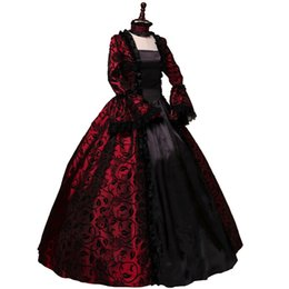 reenactment clothing NZ - Victorian Gothic Georgian Period Vintage Dress Halloween Party Cosplay Costume Masquerade Ball Gown Reenactment Clothing
