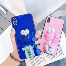 $enCountryForm.capitalKeyWord Australia - Wholesale glass Phone Case Fashion for Iphone XS MAX XR 7 8 Plus 6 6s doll designer Phone Back Cover For gifts