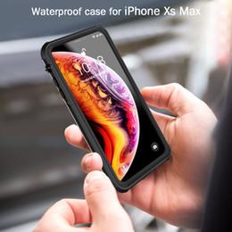 Dust Waterproof Iphone Case Australia - Built-in Screen Protector For iPhone X XR XS Max Waterproof Dust Shockproof Hard Case Full Protector