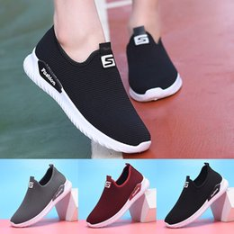 Ladies Lace socks online shopping - 2019 sneakers women Femme Ladies Casual Slip On Flat Sock Shoes Loafers Sneakers Flats Breathable Stretch Cloth Vulcanized