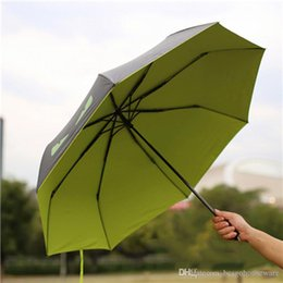 Uv Protection Coating NZ - Four Folding Sunny Rainy Umbrellas Little Devil Umbrella Black Coating UV Protection Umbrellas Windproof Sunscreen Umbrella BC BH1374