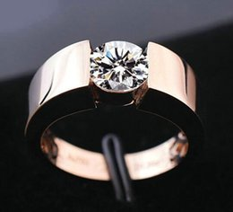 rose gold bague NZ - Nlm99 18 USpecial Free Silver S925 Rings Women men rose gold Engagement diamond solitaire Ring Wedding Bridal Bague Size 6 7 8 9 10 11 12 13