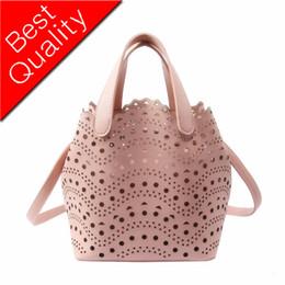 Hollow Fiber Australia - 2019 new brand female hollow bucket handbag mother shoulder bag ladies pu leather handbag