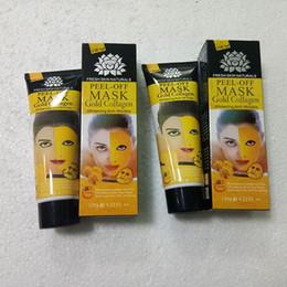 gold crystal face mask 2019 - Peel Off Gold Collagen Facial Mask Face Mask Crystal Gold Powder Collagen Facial Mask Skin Care 120ML cheap gold crystal