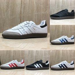 fbc38084 Nuevos entrenadores de samba Zapatos casuales para hombre diseñador de moda  Marca de cuero gacela og Negro blanco Rosa Hombres Zapatillas de deporte  para ...