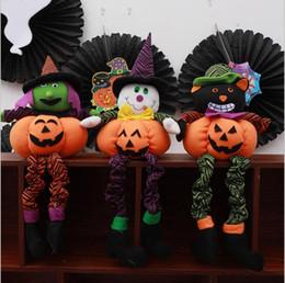 $enCountryForm.capitalKeyWord Australia - Creative Holloween Pumpkin Decoration Vegetable Pillow Doll Ghost Festival Party ornaments Kids Tricky Gift Funny children Plush Toy 821 X30