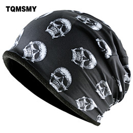 Cool Winter Beanies For Men Australia - Tqmsmy Fashion Skull Pattern Hats For Men Winter Warm Skullies Beanies Women Thick Ski Caps Unisex Hip Hop Punk Cool Bone Gorro C19022301