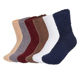 64dea74f989 6pcs Women s Socks Solid Color Coral Velvet Home Socks Man Winter  Comfortable Warm Floor Socks Meias  5T